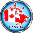 Canada Button — Stock Vector