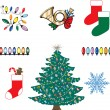 Royalty-Free Stock Векторное изображение: Christmas Icons 3