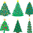 A Variety of Christmas Trees — Stock Vector