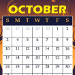 October 2010 - Stock Vector