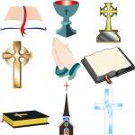 Church Icons 2 — Stock Vector