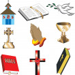 Church Icons 1 - Stock Vector