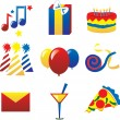 Party Icons 2 — Stockvectorbeeld