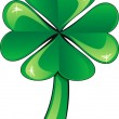 Clover Shamrock — Stockvectorbeeld