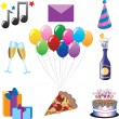 Royalty-Free Stock Vectorafbeeldingen: Party Icons