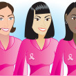 Stock Vector: Pink Cancer Women 1