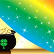 Royalty-Free Stock Vector Image: Pot Gold Rainbow Background