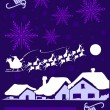 Stock Vector: Purple Christmas Card