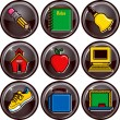 Stock Vector: School Icon Buttons 1