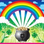 St. Patrick's Day Rainbow — Stock Vector
