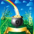 Royalty-Free Stock Vector Image: St. Patrick\'s Day Rainbow 2