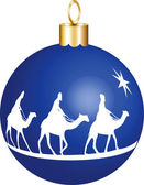 3 Kings Christmas Ornament — Stock vektor