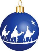 3 Kings Christmas Ornament — Stock Vector