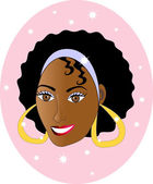 Afro Girl — Stock Vector