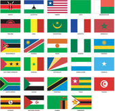 29 African Flags 2 — Stock Vector