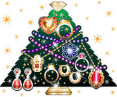 Jewelry Christmas Tree 3 — Stock Vector