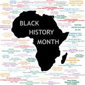 Collage de mes de historia negra — Vector de stock