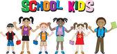 School Kids 2 — Stock Vector