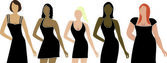 Women Body Types — Stock Vector