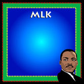 Martin luther king affisch — Stockvektor