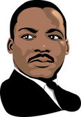 Martin Luther King — Stock Vector