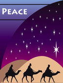 3 Wise Men Card — Stock Vector
