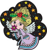 Christmas Angel 3 — Stock Vector