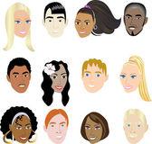 Faces 2 — Stock Vector