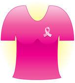 Pink Cancer Ribbon — Stock Vector
