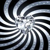 Ray corazón diamante 1 — Vector de stock