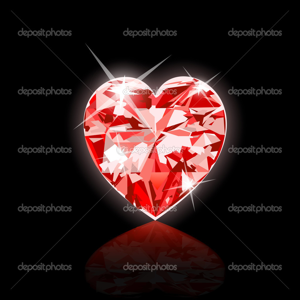 Heart diamond vector