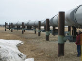 Oil extraction site — Stock Photo