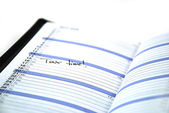 Daily planner — Stock Photo