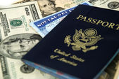 Social security and passport — Stock Photo