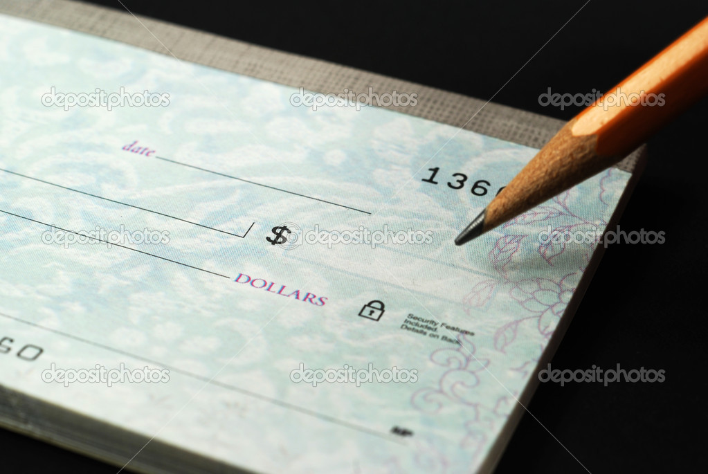 Stock pictures of checks used as a form of payment — Stock Photo #2438110