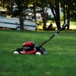 Lawnmower on the grass — Stock Photo #2440056