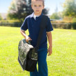 Boy is going to school — Stock Photo