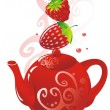 Royalty-Free Stock Imagem Vetorial: Berry Teapot