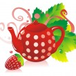 Strawberry Tea — Stock Vector