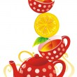 Royalty-Free Stock Imagem Vetorial: Lemon Tea