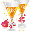 Wedding Champagne — Stock Vector #2429866