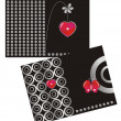 Royalty-Free Stock Vector Image: Postcard Love Black