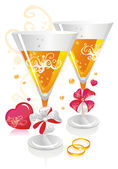 Wedding Champagne — Stock Vector