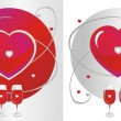 Red Glass & Heart - Imagen vectorial