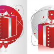 Red Glass & Present — Stock Vector