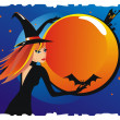 Royalty-Free Stock Vector Image: Witch Halloween