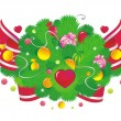 Vignette candy fir — Vector de stock
