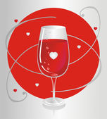 Rött glas — Stockvektor