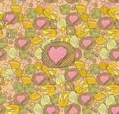 Drawn heart — Stock Vector