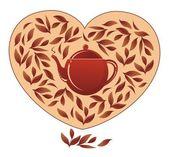 Love to tea — Stock Vector